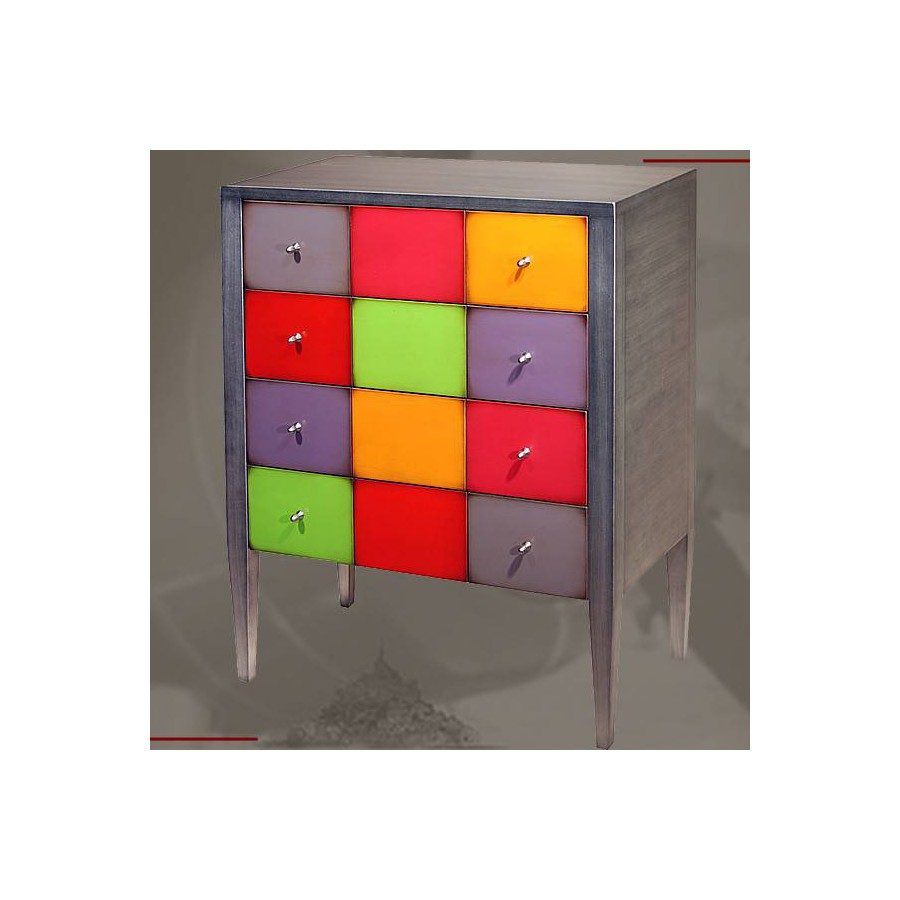 commode 4 tiroirs sur pieds batel. Black Bedroom Furniture Sets. Home Design Ideas