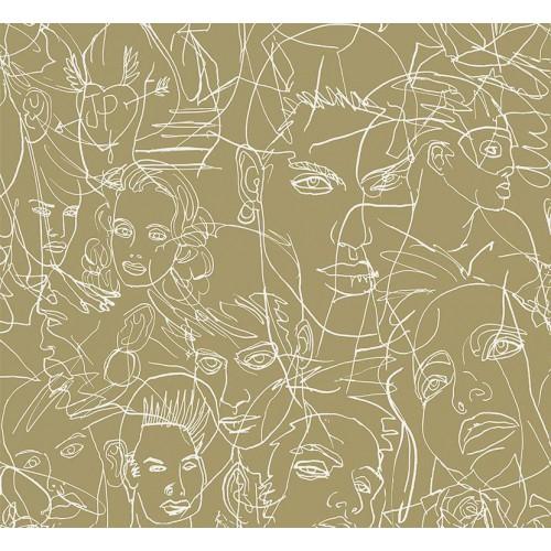 Papier peint Gouache de Jean Paul Gaultier référence 3320