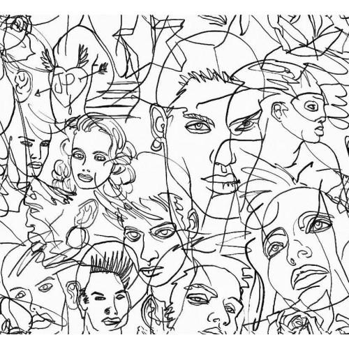 Papier peint Croquis de Jean Paul Gaultier référence 3322