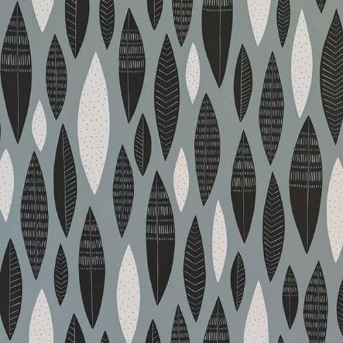 Papier peint Five Feathers de MissPrint coloris Blanc MISP1181