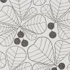 Papier peint Great Leaf de MissPrint coloris Blanc MISP1196