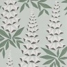 Papier peint Foxglove de MissPrint coloris Jade MISP1145