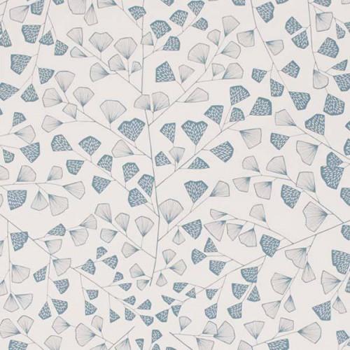 Papier peint Fern de MissPrint coloris Blanc bleu MISP1173
