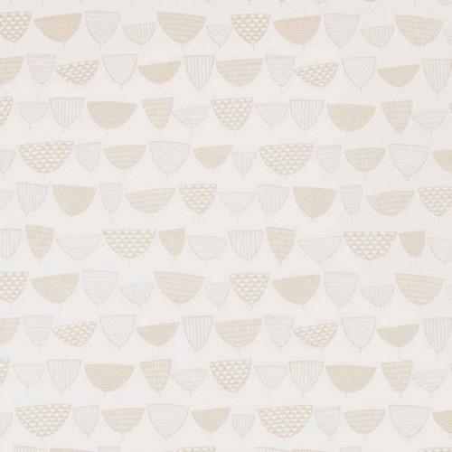Papier peint Allsorts de MissPrint coloris Blanc de lin MISP1161