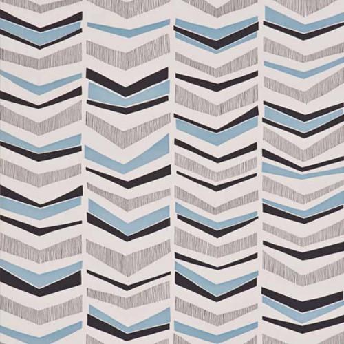 Papier peint Chevron de MissPrint coloris Bleu MISP1103