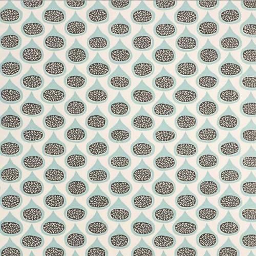Papier peint Figs de MissPrint coloris Bleu MISP1102