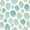 Papier peint Hoja de MissPrint coloris Bleu vert MISP1266