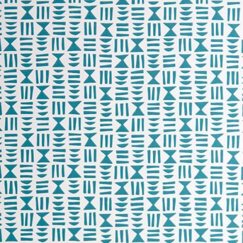 Papier peint HIeroglyph de MissPrint coloris Bleu jean MISP1245