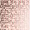 Papier peint HIeroglyph de MissPrint coloris Cuivre MISP1246