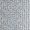 Papier peint HIeroglyph de MissPrint coloris Gris plomb MISP1241