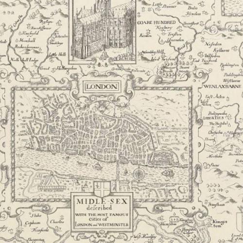 London Map wallpaper - Thibaut