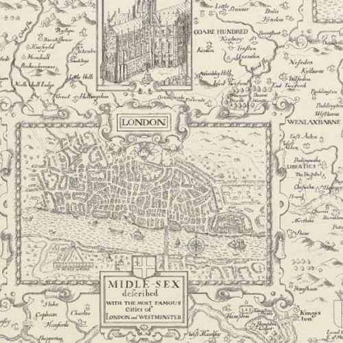 Papier peint London Map - Thibaut