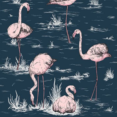 Papier peint Flamingos - Cole and Son