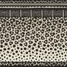 Bordure Papier peint Zulu Border de Cole and Son coloris Noir/Beige 109-13061