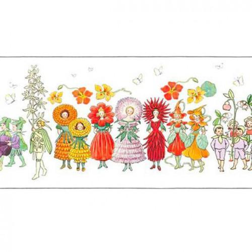 Blomsterparaden Frieze wallpaper - Boråstapeter