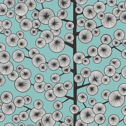 Papier peint Cotton Tree de MissPrint coloris Bleu ciel MISP1239