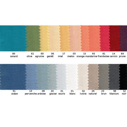 Tissu obscurcissant uni non feu M1 en 140 cm ou 280 cm COLLIOURE - Sotexpro