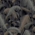 Papier peint Palm Jungle de Cole and Son coloris Argent/Noir 95-1004