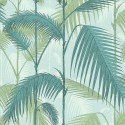Papier peint Palm Jungle de Cole and Son coloris Bleu écume 112-1001