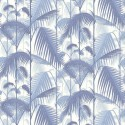 Papier peint Palm Jungle de Cole and Son coloris Bleu/Blanc 95-1005
