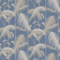 Papier peint Palm Jungle de Cole and Son coloris Paille/Bleu 95-1006