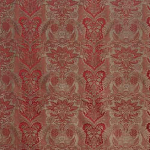 Tissu d'ameublement Borgia de Fadini Borghi coloris Carminio I6526003