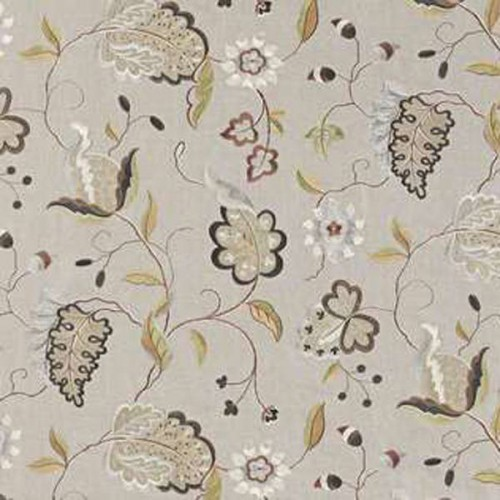 Tissu d'ameublement Claudia de Fadini Borghi coloris Acqua I6469001