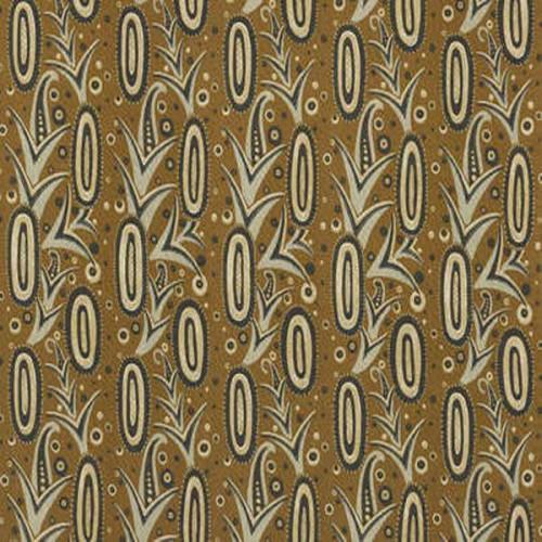 Tissu d'ameublement Ananas de Pierre Frey coloris Moutarde F31040-01