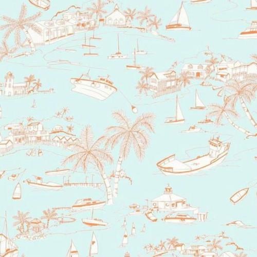 Bahamas wallpaper - Thibaut