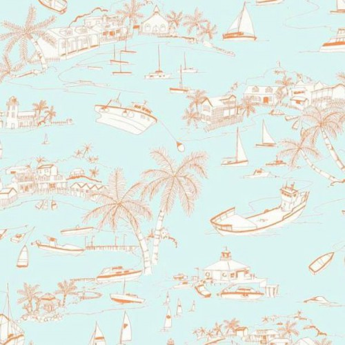 Papier peint Bahamas de Thibaut référence T57