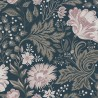 Ava wallpaper - Sandberg color pink / navy blue 400-96