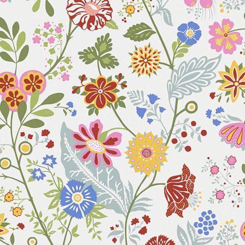 Amelie wallpaper - Sandberg color pink / green 541-38