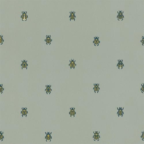 Audrey wallpaper - Sandberg reference vert d'eau et doré 231-58