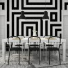 Østerbro wallpaper panel - Sandberg reference black and white 633-08