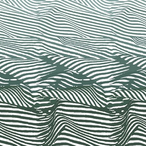 Djurgården panoramic wallpaper - Sandberg reference green and white 636-04