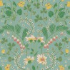 Narcisse wallpaper - Nobilis color green / white COS235