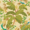 Sur un Arbre Perché wallpaper - Nobilis color green / brown COS203