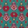 Ikat fabric - Etro color smeraldo 6561-1-3