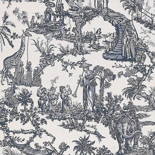 Guatan fabric - Etro color blu 6545-1-3