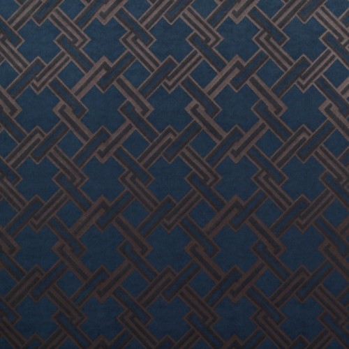 Los Angeles fabric - Gaston y Daniela color azul / topo GDT-5150-004