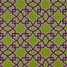 Meridien Avenue fabric - Gaston y Daniela color verde / berenjen GDT-5138-003