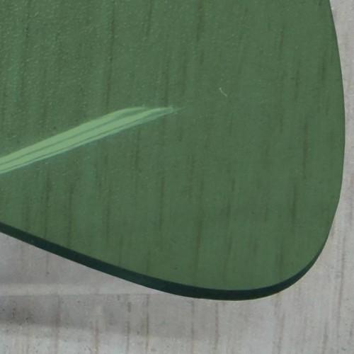 Transparent lunette arriere cabriolet coloris vert