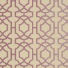 Alston Trellis wallpaper - Thibaut color metallic plum on beige T130-28