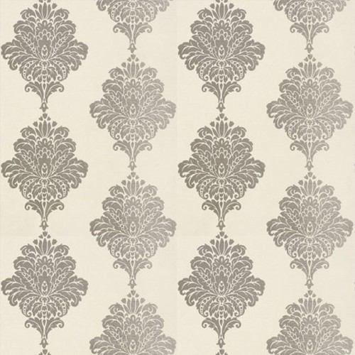 Arturo Damask wallpaper - Thibaut color metallic silver T1301-7