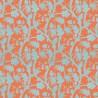 Baltimore wallpaper - Thibaut color coral / aqua T130-58