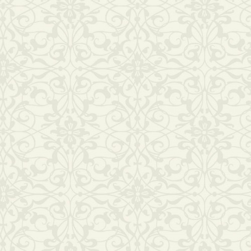 Fleurus wallpaper - Nobilis color white ABS50