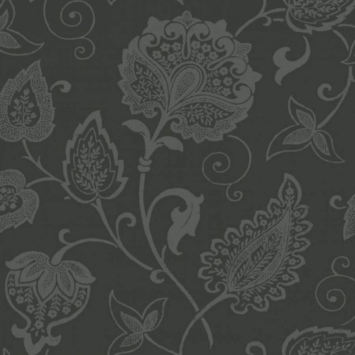 Indienne wallpaper - Nobilis color anthracite ABS84