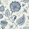 Indienne wallpaper - Nobilis color blue ABS80