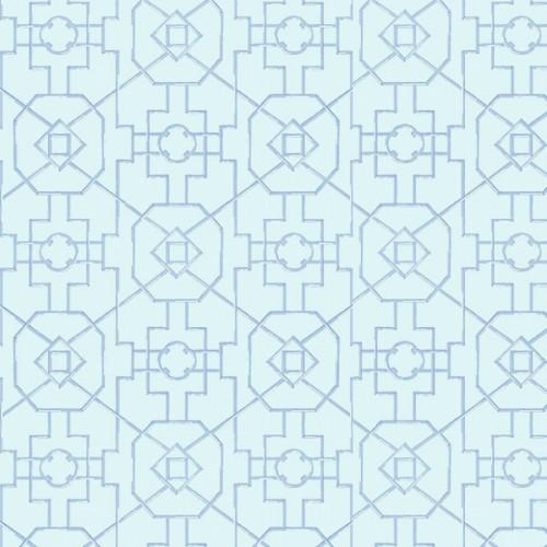 Bamboo Lattice wallpaper - Thibaut color blue T313-0