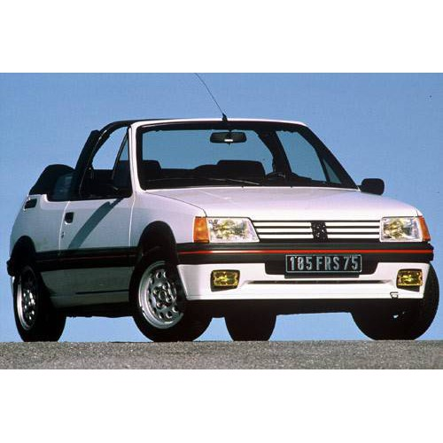 Convertible tops and accessories for Peugeot 205 CTI convertible